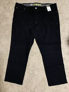 NWT Men's Black Lee Extreme Motion Relaxed Fit Straight Let Jeans Size 52 x 32