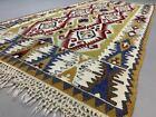 Vintage Turkish Kilim Kelim Rug shabby wool country home  boho 220x105 cm medium