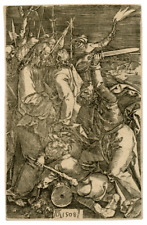 "Albrect Durer, ""Betrayal Of Christ"" Antique Copper Engraving Print"