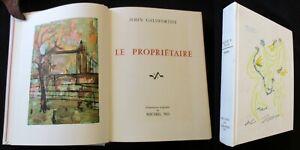 "John GALSWORTHY ""Le PROPRIÉTAIRE"". 1972. Collection Prix Nobel. Ed° Rombaldi."