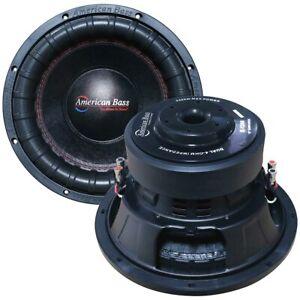 12″ Woofer, 1200W RMS/2400W Max, Dual 4 Ohm Voice Coils