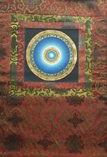 Mandala Thangka, hand-painted Buddhist painting with wall hanger