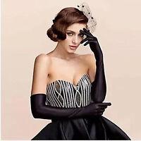 "22"" Woman Satin Long Elbow Sun Protection Opera Wedding Bridal Costume Gloves"