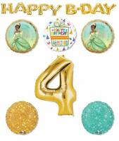 Princess Tiana 4th Birthday Party Supplies Balloon Bouquet Decorations