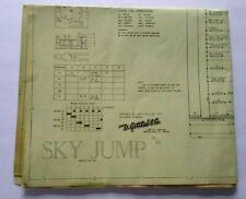 Gottlieb Sky Jump Pinball Machine Original Wiring Diagram Game Schematic 1974