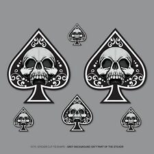 5 x Ace Of Spades Skull Stickers - Car Laptop Macbook Decals Sticker - 2807