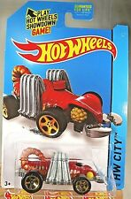 2014 Hot Wheels #51 Hw City-Street Beasts Eevil Weevil Burnt Orange w/Gold 5 Sp