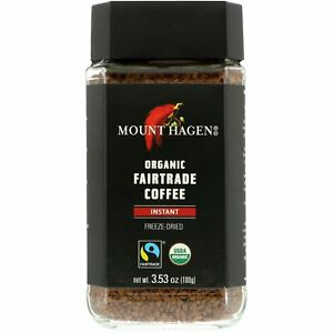 Organic Fairtrade Coffee, Instant, 3.53 oz (100 g)
