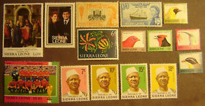 Sierra Leone 15 Different Mint Never Hinged F-VF