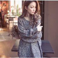 Women  Loose Jumper Cardigan Coat   Jacket Sweater Long Sleeve Crochet Knitwear