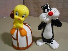 Sylvester & Tweety Bird Salt & Pepper Shakers 1993 Warner Bros