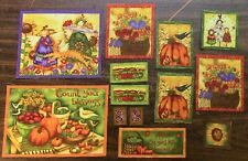 13 Fussy Cut Fall/Autumn Quilt Blocks - Sewing Quilting 100% Cotton Fabric