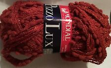 Mondial Pizzo Lux - Scarf/Shawl Yarn - One skein makes scarf -Red #0947 19 Sks