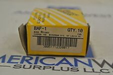 BUSSMANN BAF-1 1 AMP FUSES - NEW BOX OF 10