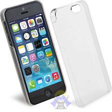 COVER Custodia BUMPER per iPHONE 5 / 5S Trasparente SLIM Sottile PLASTICA Rigida