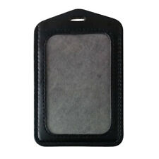 Muti Color PU Leather ID Badge Card Holder Retractable Reel Credit Name Case