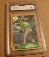 1987 TOPPS #366 MARK MCGWIRE ROOKIE GMA 9 qty