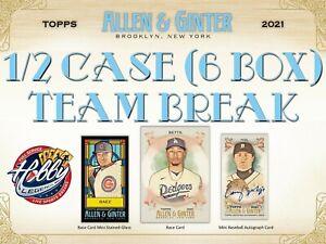 CLEVELAND INDIANS 2021 Topps ALLEN & GINTER 1/2 Case (6 Box) TEAM break #1