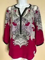 New York Company Womens Size XS Blouse Long Sleeve Polyester