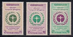 Cambodia   1972   Sc # 292-94    MNH   OG   (1078)