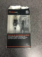 Blackweb 6 Foot Sync & Charge Cable Micro USB Ballistic Aramid Fiber Black M49C