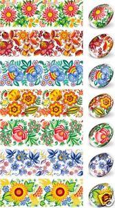 Heat Shrink Sleeve Decoration Easter Egg Wraps Pysanka Pysanky Floral Painting
