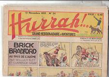 HURRAH n°24 - 13 novembre 1935 - Très bel état.