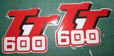 Serbatoio Yamaha TT 600 1983/92 cristal - adesivi/adhesives/stickers/decal