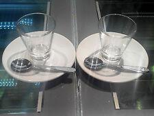 2 Bicchierini minimum glass illy Caffé art collection +2 piattini saucers + 2