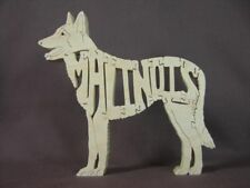 Belgian Malinois Dog Wood Puzzle Toy Amish Made NEW