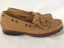 Allen Edmonds Boat Shoes Tassel Loafers 7.5D Tan Suede