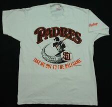 Rare VTG RAWLINGS San Diego Padres Take Me Out To The Ballgame T Shirt 90s SZ XL