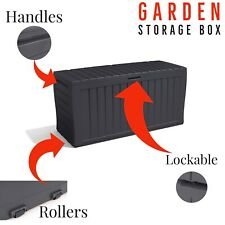 Keter Garden Storage Box Marvel+ Waterproof Plastic Outdoor Chest 270L Grey