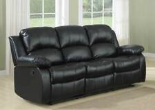 black leather recliner sofas for sale ebay rh ebay co uk