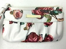 JUICY COUTURE WALLET White Wristlet with Roses - Clutch