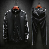 Men Outfit TrackSuit Jacket Bottom Sport Suit Sets Pants Trouses Strips Jogging