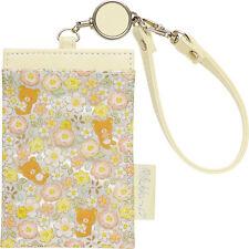 Rilakkuma Reel ID Card Pass Case Yellow ❤ San-X Japan