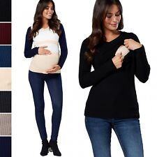 Happy Mama. Women's Maternity Nursing Jumper V-neck Long Sleeves. 454p