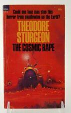 SIGNED Vintage THE COSMIC RAPE Theodore Sturgeon Dell Paperback 1968