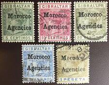 Morocco Agencies 1898-1900 5 Values FU