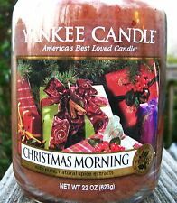 "Yankee Candle Retired ""CHRISTMAS MORNING"" Festive Large 22 oz ~ WHITE LABEL~ NEW"