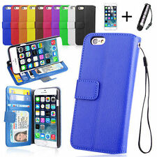 Leather Mobile Phone Wallet Cases for Apple