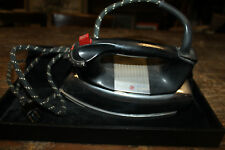 Vintage F62 GE General Electric Chrome STEAM & DRY IRON H1F62 Tested & WORKING