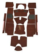 TRIUMPH TR4A/5/6 desde 61-76 Alfombra conjunto marrón oscuro España con el respaldo de Hesse