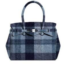 BORSA DONNA SAVE MY BAG MISS LYCRA WOOL BLUE 10204N 218