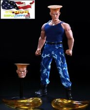 1/6 Street Fighter Guile American Soldier two head w/ clothes for M35 M34 ❶USA❶