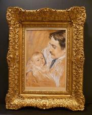 1895 ORIGINAL PASTEL FAMED TENOR & ACTOR BY ELIZABETH CURTIS O'SULLIVAN-LISTED
