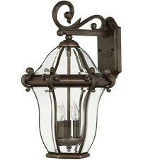 PAIR! (2)Hinkley 2444CB San Clemente Outdoor Lanterns/Fixtures, Copper Bronze