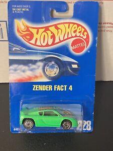 Zender Fact 4 #228 * Green * Hot Wheels Blue Card * D6 NIP
