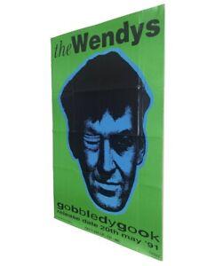 factory records poster Original 1991 The Wendy's Edinburgh New Order Hacienda